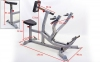 Тяга к груди с упором Zelart AX1026 Seated Row Machine (металл, PVC, р-р 150x90x121см) уп. в 2ящ. 10