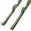 Лента для растяжки Record Stretch Strap F040 (12 петель, нейлон, р-р 2,5х230см, черный-салатовый) 0