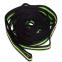Лента для растяжки Record Stretch Strap F040 (12 петель, нейлон, р-р 2,5х230см, черный-салатовый) 2
