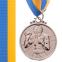 Медаль спортивная с лентой Бокс d-5см C-4337(металл, d-5см, 28g золото, серебро, бронза) 2
