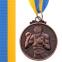 Медаль спортивная с лентой Бокс d-5см C-4337(металл, d-5см, 28g золото, серебро, бронза) 5