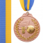 Медаль спортивная с лентой двухцветная d-6,5см Баскетбол C-4849 (металл, покрытие 2тона,56g золото, серебро, бронза) 5