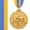 Медаль спортивная с лентой двухцветная d-6,5см Борьба C-4852 (металл, покрытие 2 тона, 56g золото, серебро, бронза) 0
