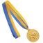 Медаль спортивная с лентой двухцветная d-6,5см Борьба C-4852 (металл, покрытие 2 тона, 56g золото, серебро, бронза) 2