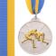 Медаль спортивная с лентой двухцветная d-6,5см Борьба C-4852 (металл, покрытие 2 тона, 56g золото, серебро, бронза) 3