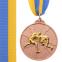 Медаль спортивная с лентой двухцветная d-6,5см Борьба C-4852 (металл, покрытие 2 тона, 56g золото, серебро, бронза) 5