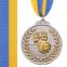 Медаль спортивная с лентой двухцветная SP-Sport Волейбол C-4850 золото, серебро, бронза 1