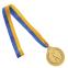 Медаль спортивная с лентой двухцветная d-6,5см Гимнастика C-4851 место (металл, покр. 2 тона, 56g золото, серебро, бронза) 2