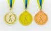 Медаль спортивная с лентой двухцветная d-6,5см Гимнастика C-4851 место (металл, покр. 2 тона, 56g золото, серебро, бронза) 0