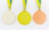 Медаль спортивная с лентой двухцветная d-6,5см Гимнастика C-4851 место (металл, покр. 2 тона, 56g золото, серебро, бронза) 1