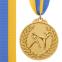 Медаль спортивная с лентой двухцветная d-6,5см Единоборства C-4853 (металл,покр. 2тона, 56g золото, серебро, бронза) 0