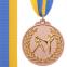 Медаль спортивная с лентой двухцветная d-6,5см Единоборства C-4853 (металл,покр. 2тона, 56g золото, серебро, бронза) 5