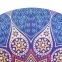 Коврик для йоги круглый замшевый каучуковый с принтом Record FI-6218-2 диаметр-1,5м 3мм синий-белый 3