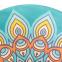 Коврик для йоги круглый Замшевый каучуковый двухслойный без чехла 3мм Record FI-6218-3 (диаметр 150см, бирюзовый, с принтом Жизнь) 2