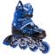 Роликовые коньки раздвижные в наборе защита, шлем, сумка JINGFENG SK-170 (31-42) (PL, PVC, колесо PU светящ., алюм., цвета в ассортименте) 3