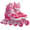 Роликовые коньки раздвижные в наборе защита, шлем, сумка JINGFENG SK-170 (31-42) (PL, PVC, колесо PU светящ., алюм., цвета в ассортименте) 24