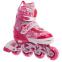 Роликовые коньки раздвижные в наборе защита, шлем, сумка JINGFENG SK-170 (31-42) (PL, PVC, колесо PU светящ., алюм., цвета в ассортименте) 26