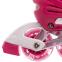 Роликовые коньки раздвижные в наборе защита, шлем, сумка JINGFENG SK-170 (31-42) (PL, PVC, колесо PU светящ., алюм., цвета в ассортименте) 27