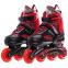 Роликовые коньки раздвижные JINGFENG SK-189 (31-42) (PL, PVC, колесо PU светящ., алюм., цвета в ассортименте) 3