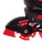 Роликовые коньки раздвижные JINGFENG SK-189 (31-42) (PL, PVC, колесо PU светящ., алюм., цвета в ассортименте) 6