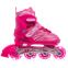 Роликовые коньки раздвижные JINGFENG SK-857 (31-42) (PL, PVC, колесо PU светящ., алюм., цвета в ассортименте) 0