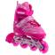 Роликовые коньки раздвижные JINGFENG SK-857 (31-42) (PL, PVC, колесо PU светящ., алюм., цвета в ассортименте) 1
