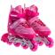 Роликовые коньки раздвижные JINGFENG SK-857 (31-42) (PL, PVC, колесо PU светящ., алюм., цвета в ассортименте) 2