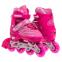 Роликовые коньки раздвижные JINGFENG SK-857 (31-42) (PL, PVC, колесо PU светящ., алюм., цвета в ассортименте) 3