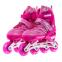 Роликовые коньки раздвижные JINGFENG SK-857 (31-42) (PL, PVC, колесо PU светящ., алюм., цвета в ассортименте) 4