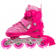 Роликовые коньки раздвижные JINGFENG SK-857 (31-42) (PL, PVC, колесо PU светящ., алюм., цвета в ассортименте) 5