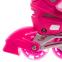 Роликовые коньки раздвижные JINGFENG SK-857 (31-42) (PL, PVC, колесо PU светящ., алюм., цвета в ассортименте) 6