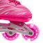 Роликовые коньки раздвижные JINGFENG SK-857 (31-42) (PL, PVC, колесо PU светящ., алюм., цвета в ассортименте) 7