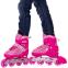 Роликовые коньки раздвижные JINGFENG SK-857 (31-42) (PL, PVC, колесо PU светящ., алюм., цвета в ассортименте) 11