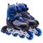 Роликовые коньки раздвижные JINGFENG SK-857 (31-42) (PL, PVC, колесо PU светящ., алюм., цвета в ассортименте) 16