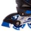 Роликовые коньки раздвижные JINGFENG SK-857 (31-42) (PL, PVC, колесо PU светящ., алюм., цвета в ассортименте) 20