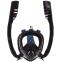 Маска для снорклинга с дыханием через нос с двумя трубками Zelart M507-L S-XL черный 0