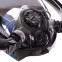 Маска для снорклинга с дыханием через нос с двумя трубками Zelart M507-L S-XL черный 2