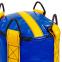 Мешок боксерский Цилиндр Тент h-100см LEV UR LV-2801 (наполнит.-ветошь, d-28см, вес-35кг, синий-желтый) 1