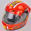 Мотошлем интеграл (full face) со съемным утеплителем Tanked Racing T112-4 ESPANA (ABS, размер XL-2XL-61-64, красный-желтый-белый) 1