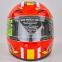 Мотошлем интеграл (full face) со съемным утеплителем Tanked Racing T112-4 ESPANA (ABS, размер XL-2XL-61-64, красный-желтый-белый) 2