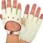 Перчатки автомобильные с открытыми пальцами BC-0132  размер M-L (застежка кнопка цвета в ассортименте) 0