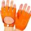 Перчатки автомобильные с открытыми пальцами BC-0132  размер M-L (застежка кнопка цвета в ассортименте) 3