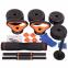 Набор гантелей со штангой и гирями 6в1 многофункциональный 10кг FED SC-80016-10 2шт по 5кг 25