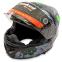 Мотошлем интеграл (full face) Tanked Racing T270 (ABS, размер L-XXL-58-64, черный-салатовый) 0