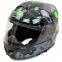 Мотошлем интеграл (full face) Tanked Racing T270 (ABS, размер L-XXL-58-64, черный-салатовый) 2