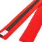 Пояс для кимоно двухцветный SP-Planeta красный-черный-красный BO-7265 (хлопок, размер 00-5, длина 220-280см) 1