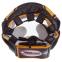 Шлем боксерский с полной защитой кожаный TWINS FHG-TW4GD-BK S-XL золотой-черный 1