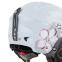 Шлем горнолыжный с механизмом регулировки MOON MS-2948 (ABS, p-p M-55-58, S-53-55, белый-розовый) 2