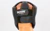Шлем боксерский открытый с усиленной защитой макушки Кожвинил BOXER 2030-4 (р-р M-XL, черный) 2