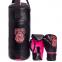 Боксерский набор детский (перчатки+мешок) LEV LV-4686 (PVC, мешок h-40см, d-15см, цвета в ассортименте) 0